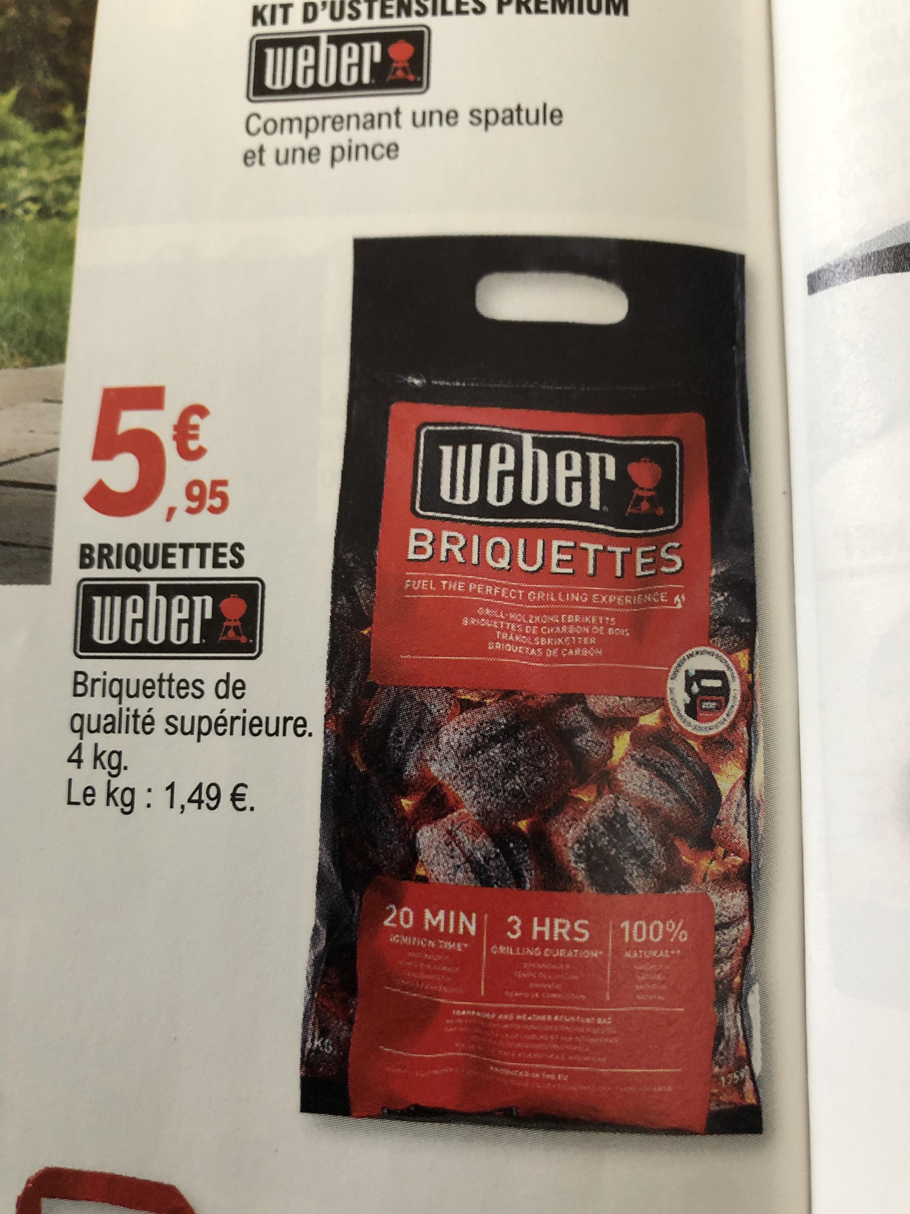 Briquettes Weber de qualité supérieure, 4kgs - Geispolsheim (67)