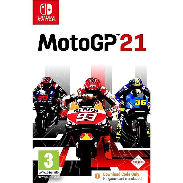 Moto GP 21 sur Switch (code de téléchargement dans la boîte)