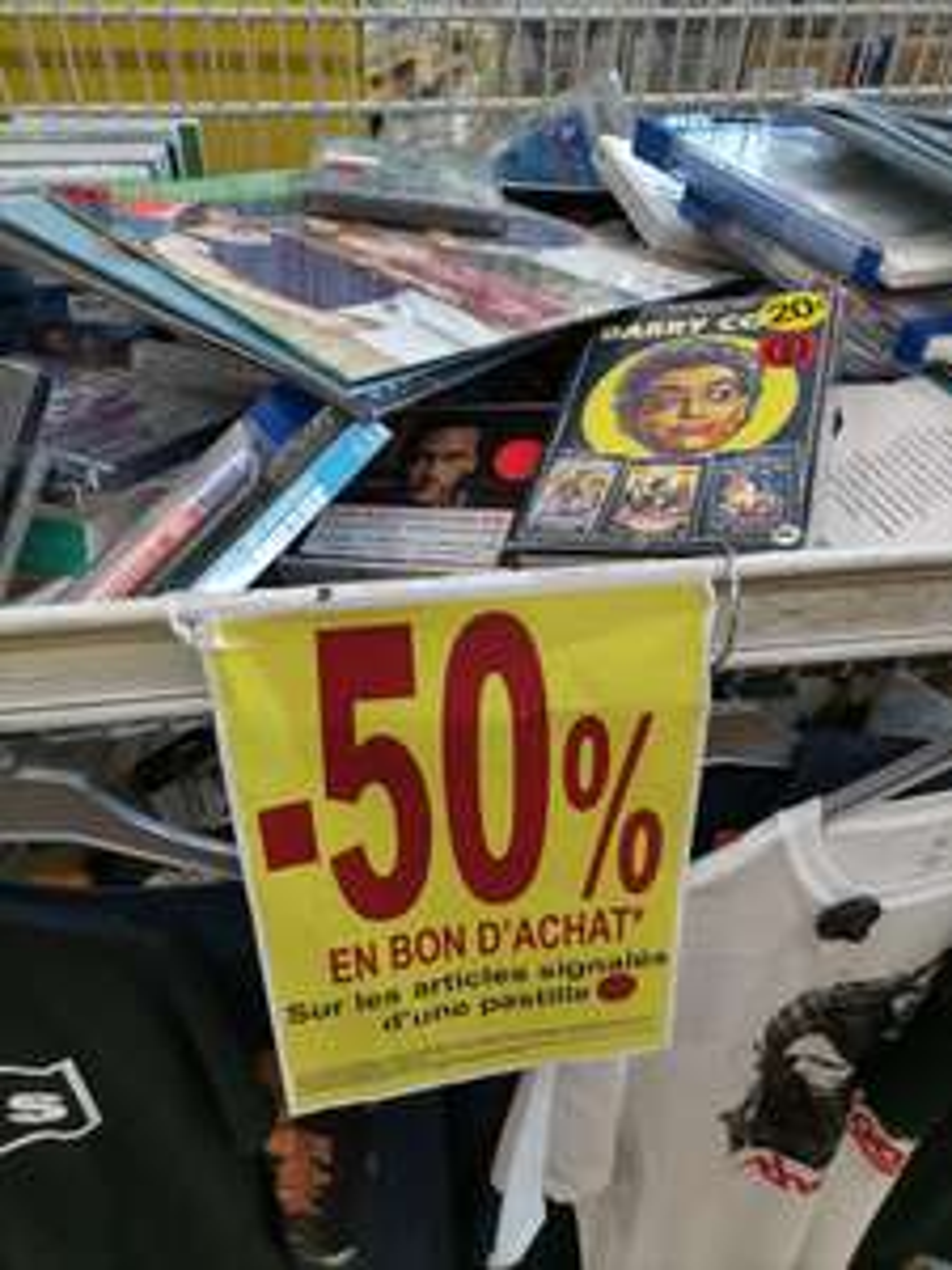 50% offerts en bon d'achat sur une sélection de jeux-vidéos, DVD, CD - Mulhouse (68)