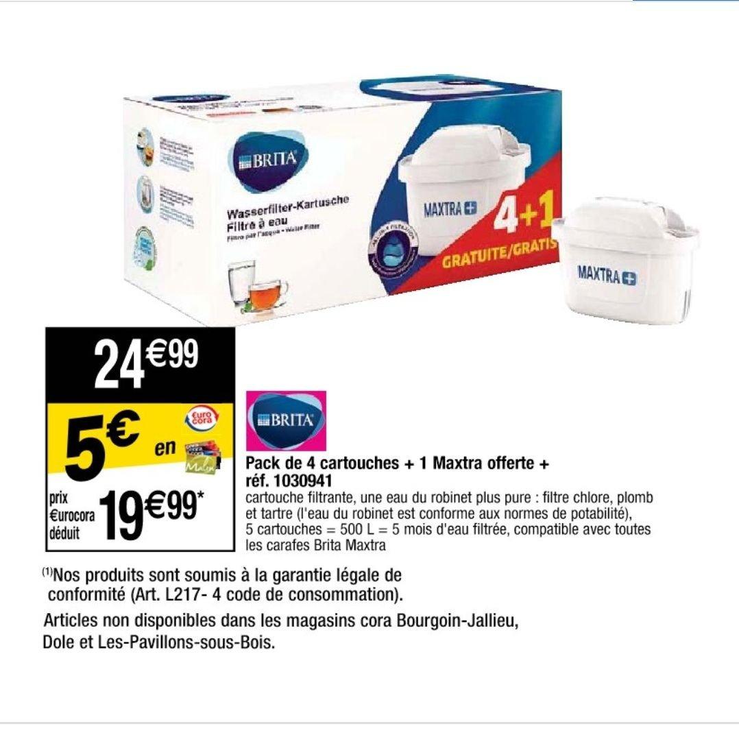 Pack de 5 cartouches filtrantes Maxtra+ (via 5€ sur la carte fidélité)