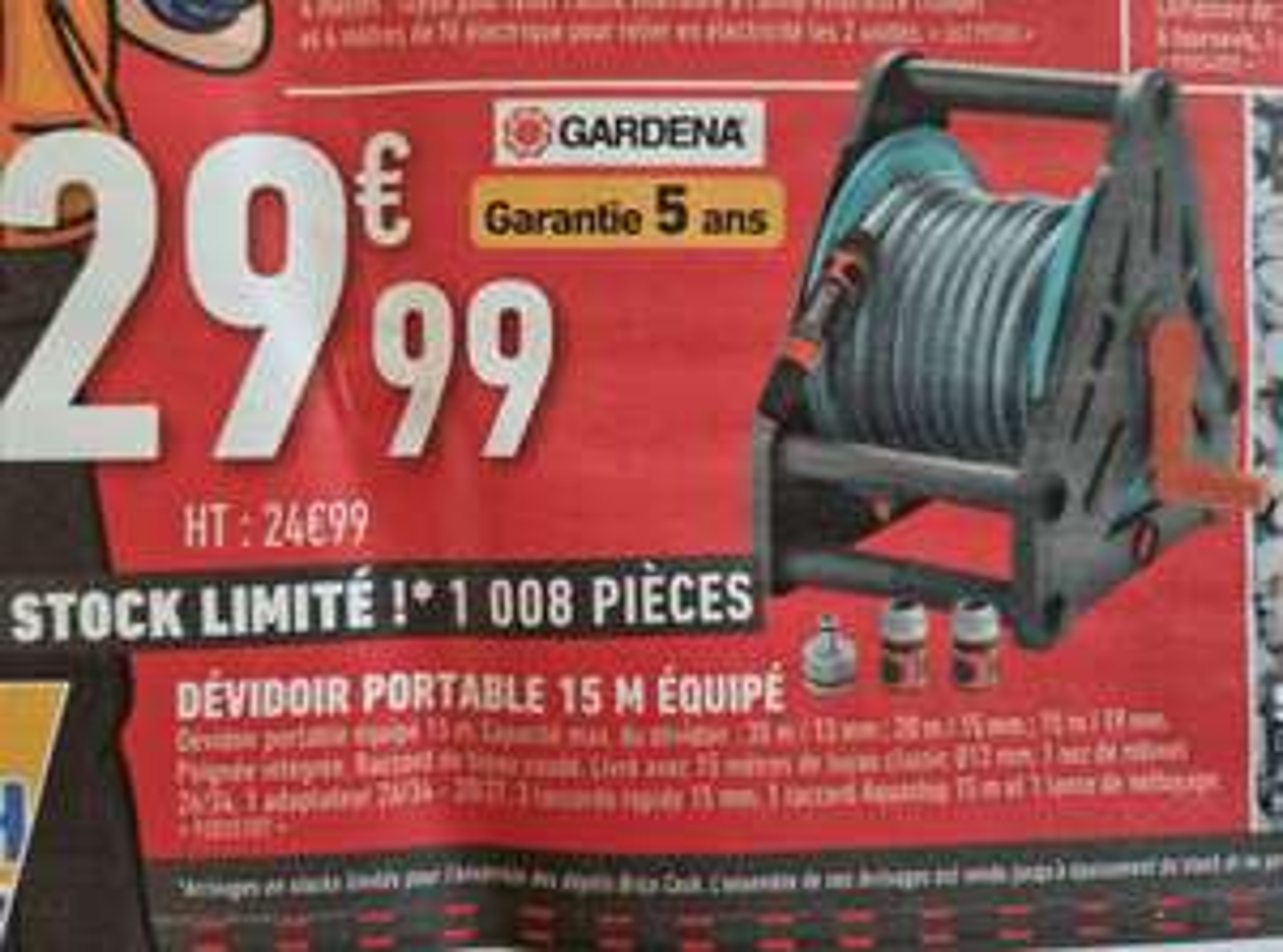 Dévidoir portable Gardena - 15m