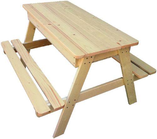 Table de pique-nique enfant avec fonction bac à sable - L. 80 x l. 80 x H. 55 cm