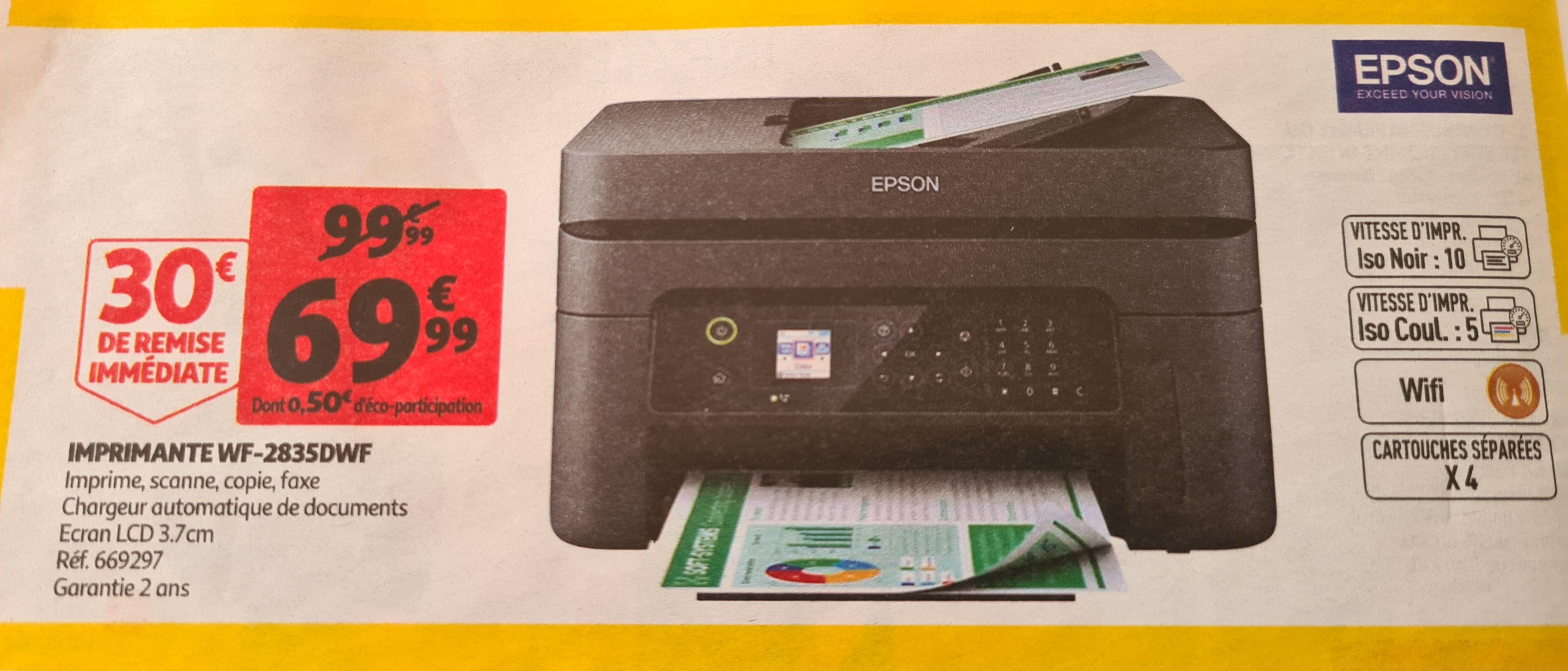 Imprimante multifonctions jet d'encre Epson WorkForce WF-2835DWF