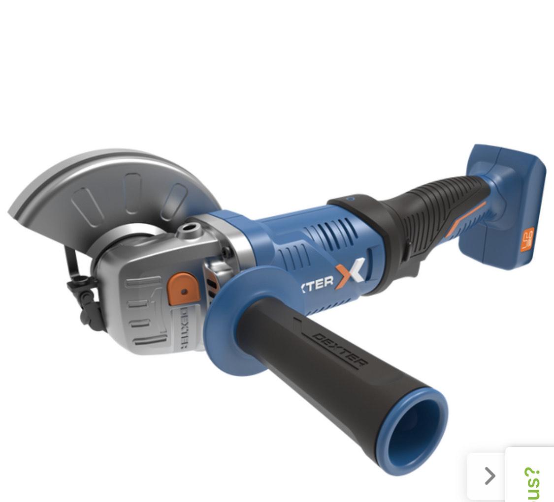 Meuleuse d'angle sans fil Dexter UP20 20VAG2 - 125 mm + 1 batterie + 1 chargeur