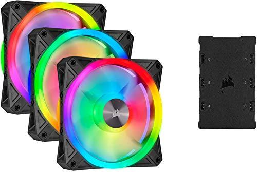 Pack de 3 Ventilateurs PC Corsair iCUE QL120 RGB - PWM, 120 mm + Lighting Node Core