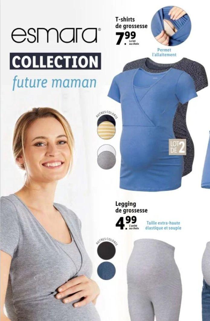Lot de 2 T-shirts de grossesse / allaitement