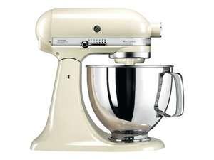 Robot pâtissier Kitchenaid Artisan 5KSM125EAC - 300W, Crème (via retrait dans une sélection de magasins)