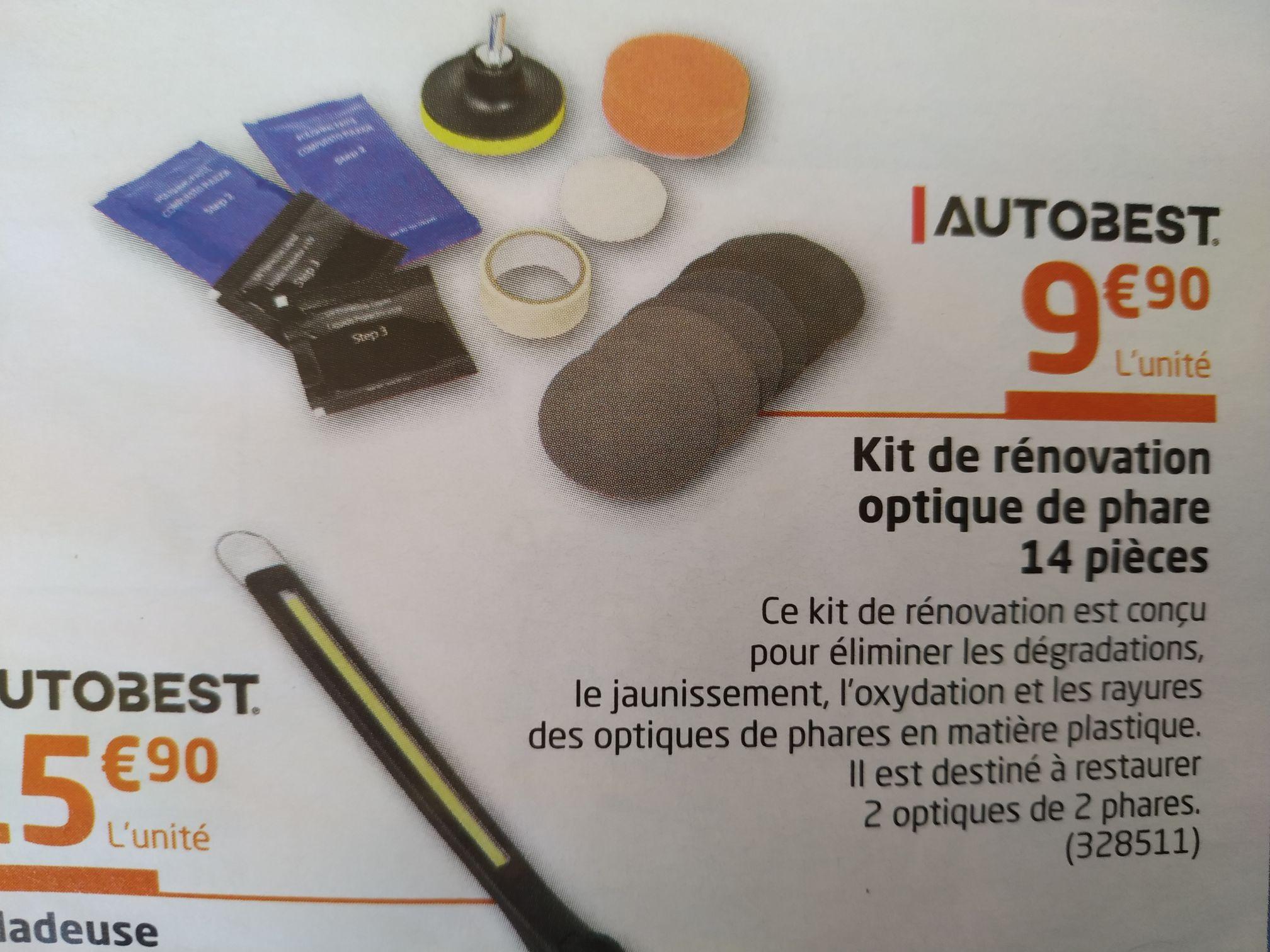 Kit de rénovation optique de phare Autobest - 14 pièces