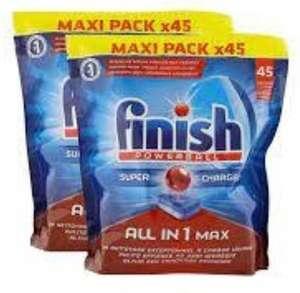 2 Paquets de 45 Tablettes lave vaisselle Finish PowerBall All In 1 Max - Différentes Variétés