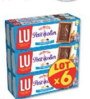 Lot de 6 paquets de biscuits au chocolat au lait Petit écolier de LU (6 x 150 g)