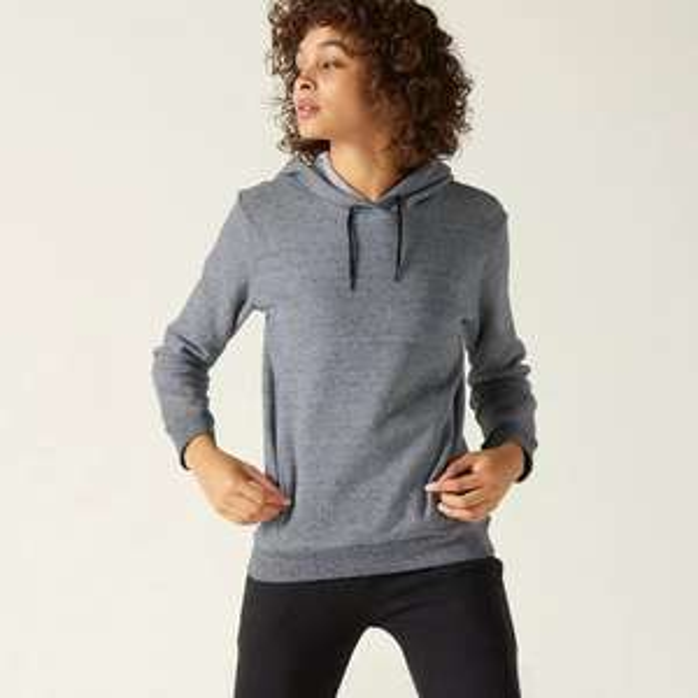 Sweat à capuche Femme Fitness poche kangourou Domyos - Gris (du L au 2XL)