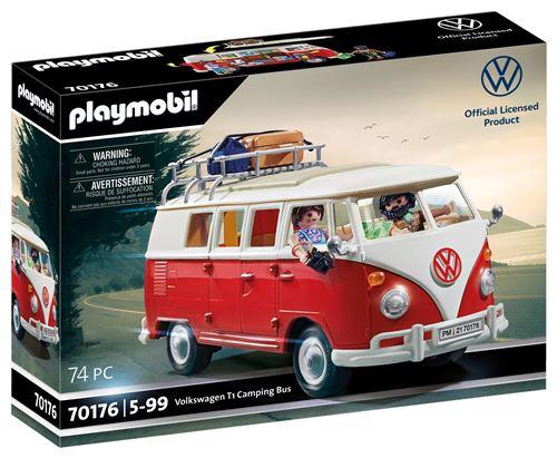 20% de remise immédiate dès 50€ d'achat sur une sélection de Playmobil - Ex : Playmobil 70176 Volkswagen T1 Camping Bus (via retrait mag)