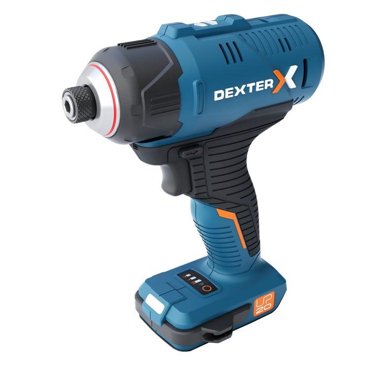 Visseuse à chocs Dexter UP20 20VIDV2-180.1 (20 V) - avec batterie (2.5 Ah) + chargeur offerts