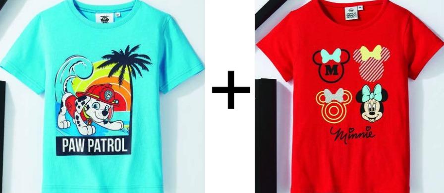 1 T-shirt acheté = le 2e offert (Super Mario, Pat Patrouille, La Reine des Neiges...) pour Enfants et Bébés (du 3 mois au 8 ans)