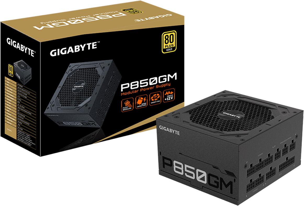 Bloc d'alimentation PC GigaByte P850GM - 80Plus Gold, 850 W