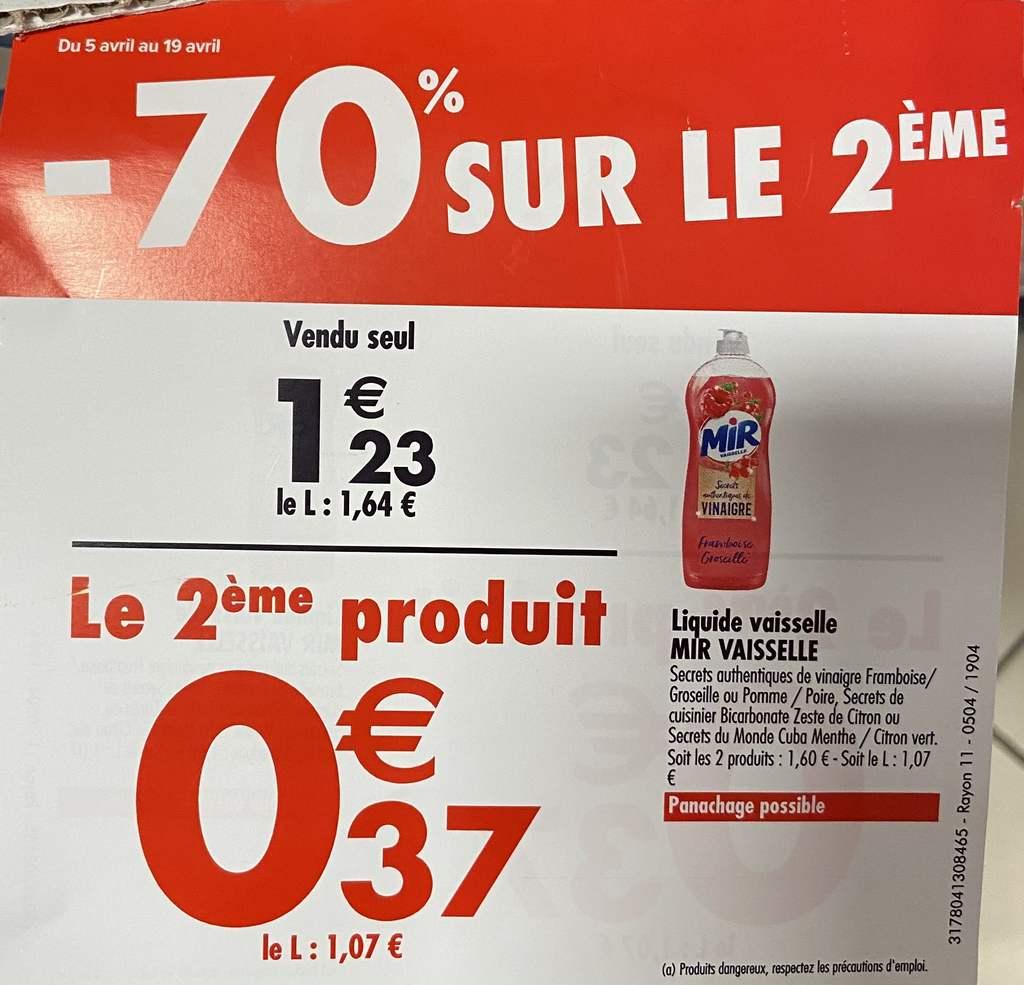 2 Liquides Vaisselle Mir - Porte de Saint Ouen (75)