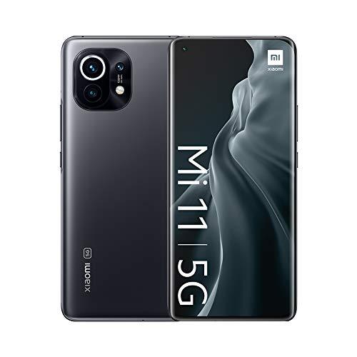 "Smartphone 6.81"" Xiaomi Mi 11 5G - WQHD+ AMOLED, SnapDragon 888, 8 Go de RAM, 128 Go, noir"