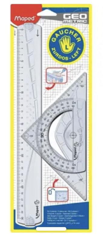 Kit de 3 pièces de traçage Geometric pour gaucher Maped