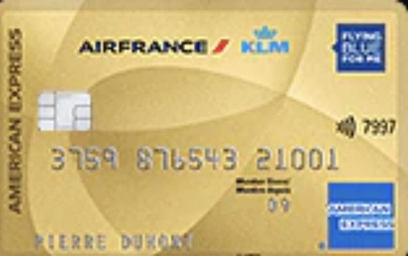 Carte Bancaire AMEX Air France KLM Gold offerte pendant 1 an + 10 000 Miles + Bon d'achat de 50€ + Cashback + 30 XP AF KLM (Sois conditions)
