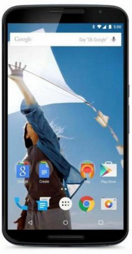 """Smartphone 6"""" Motorola Nexus 6 - 64 Go, Bleu nuit + 39.99€ en bon d'achat"""