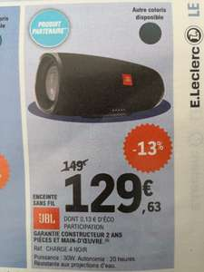 Enceinte Bluetooth JBL Charge 4 - Noir, IPX7