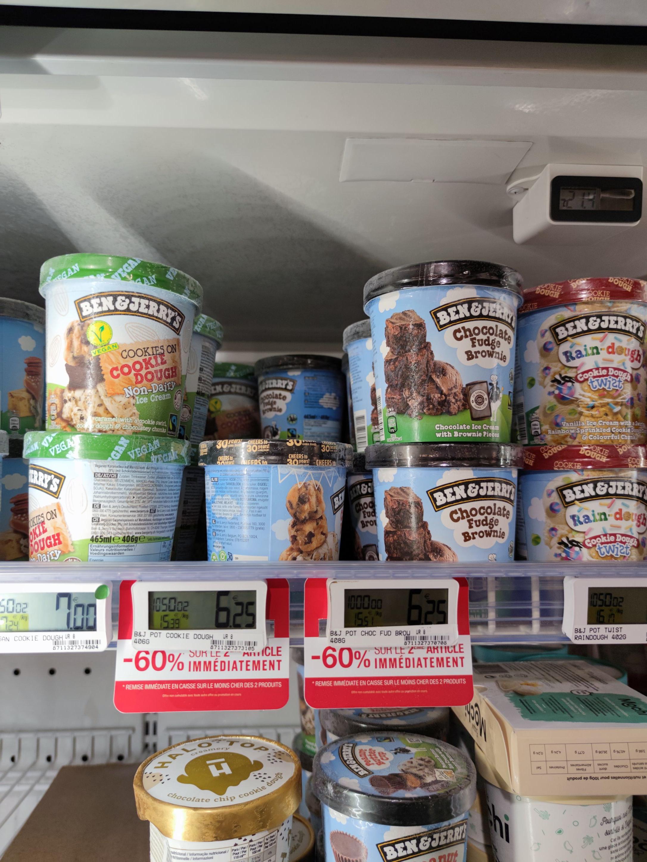 Lot de 2 Pots de Crème glacée Ben & Jerry's - 2x 408g (Levallois Perret 92)