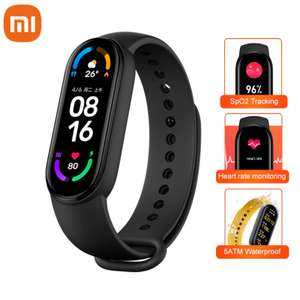 Bracelet connecté Xiaomi Mi Band 6 - noir (version CN)