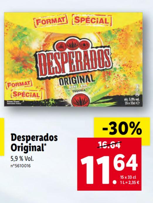 Pack de 15 bouteilles de bière Desperados Original - 15x33 cl