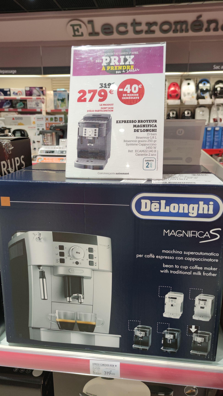 Machine à café broyeur DeLonghi Magnifica S ECAM 22.140B - 150 bars, 1450 W - Chantonnay (85)