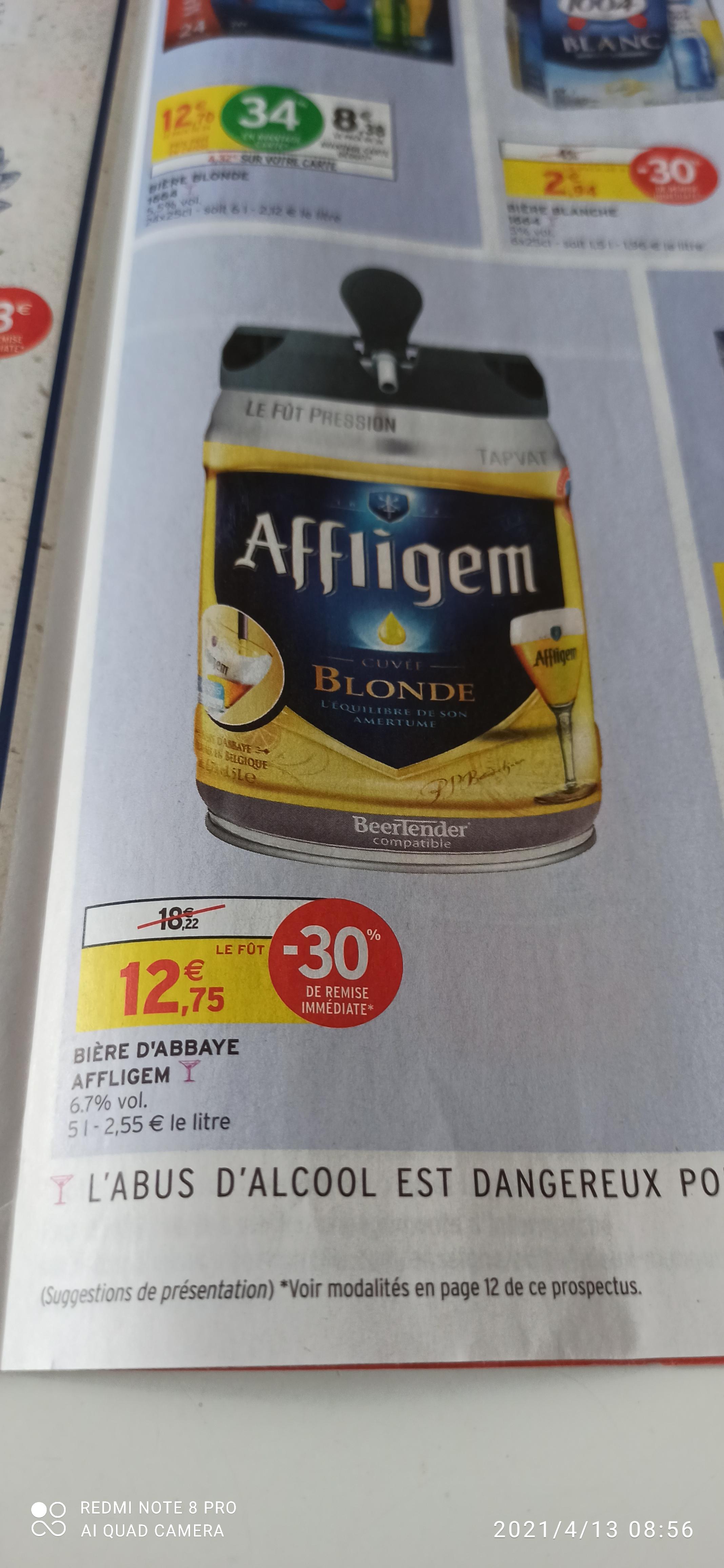 Fût de bière blonde Beertender Afflighem - 5L