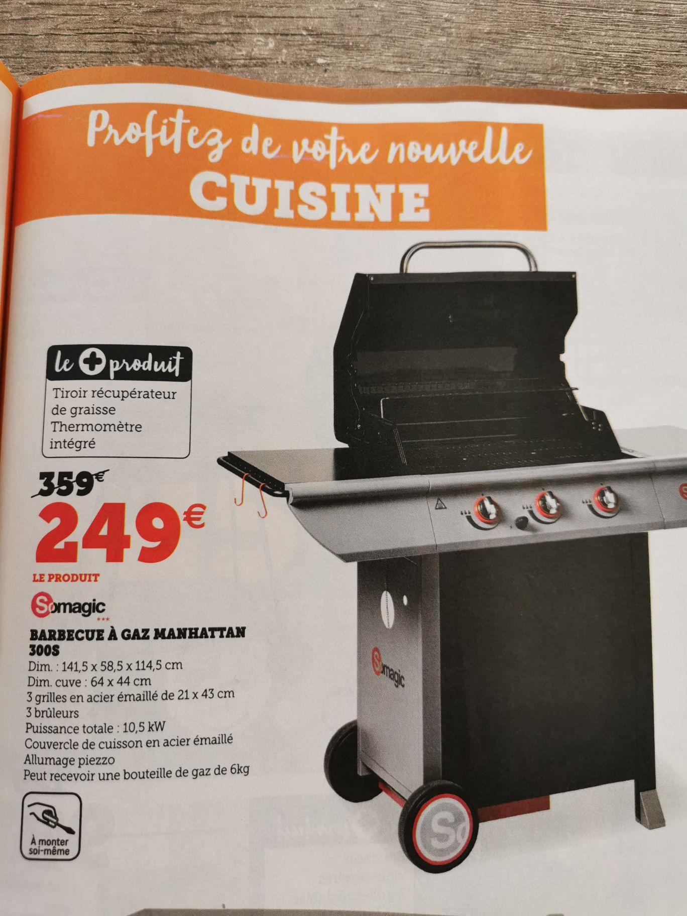 Barbecue à SoMagic gaz Manhattan 300S - 3 brûleurs, 10.5 kW