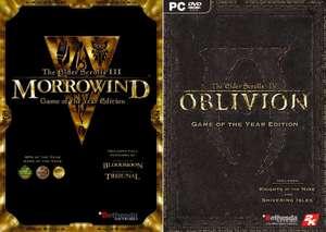 The Elder Scrolls IV: Oblivion Game Of The Year Edition à 2,20€ ou The Elder Scrolls III: Morrowind GOTY à 2,26€ (Dématérialisé - Steam)