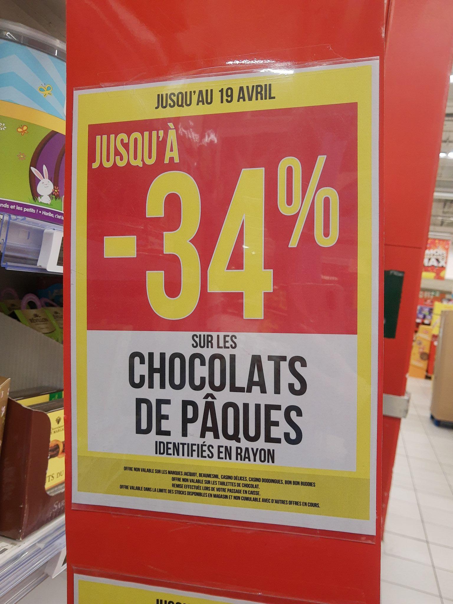 34% de réduction sur une sélection de chocolats de Pâques - Salon-de-Provence (13)