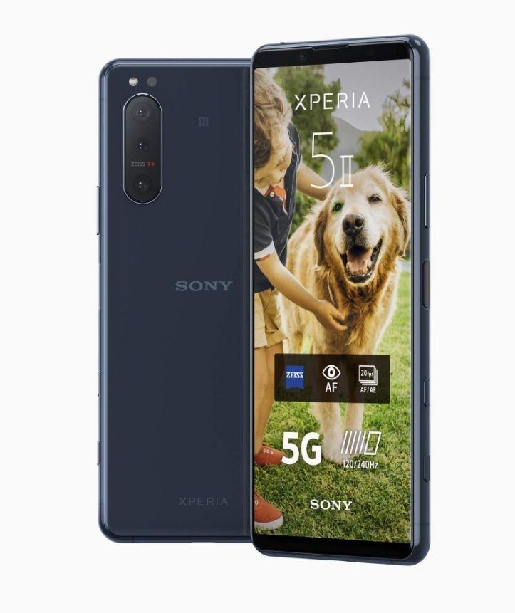 "Smartphone 6.1"" Sony Xperia 5 II 5G - FHD+ 120Hz OLED, 8 Go RAM, 128 Go ROM, SD865, IP68, NFC, 4000mAh, 21W"