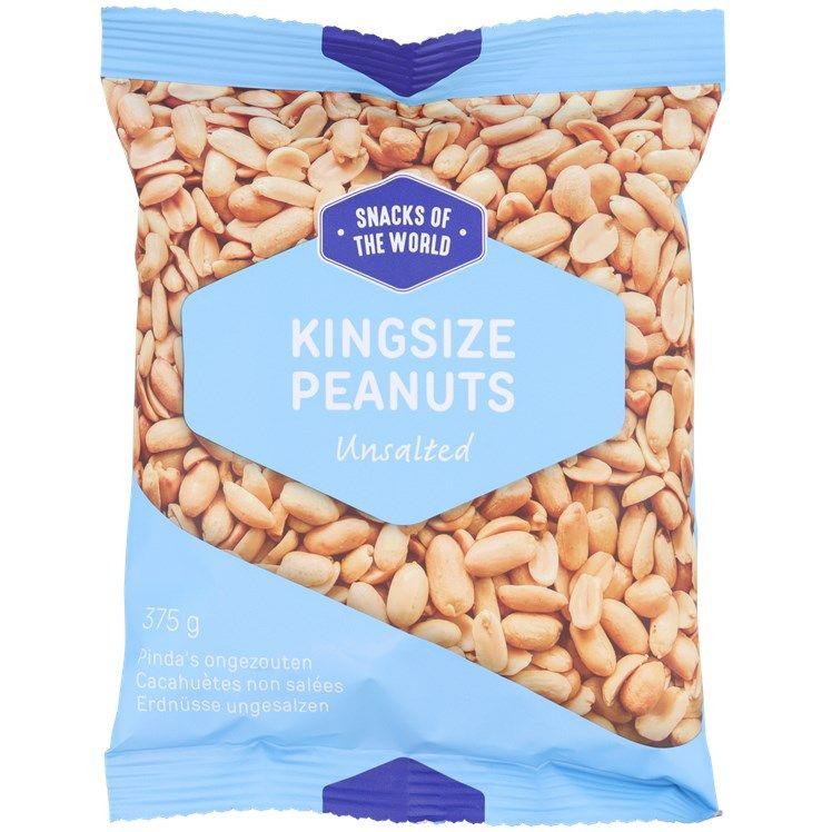 Sachet de cacahuètes salées ou non salées - 375g