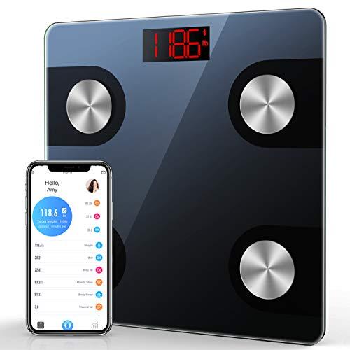 Pèse-personne connecté Nbpower - Bluetooth avec application Smart, 4 capteurs haute précision