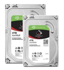 """Pack de 2 disques durs 3.5"""" Seagate Iron Wolf - 4 To"""