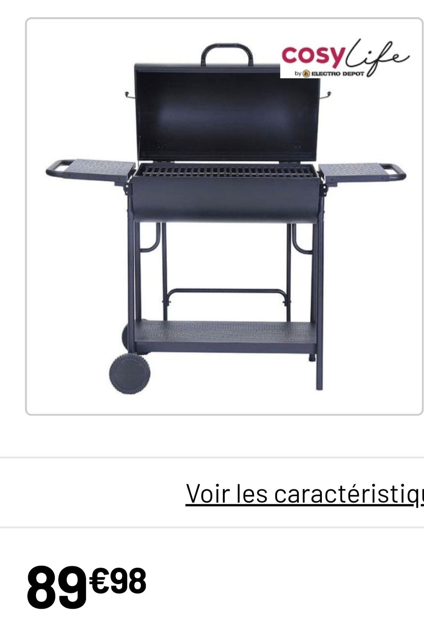 Barbecue charbon Cosylife CL-7244 double tonneau