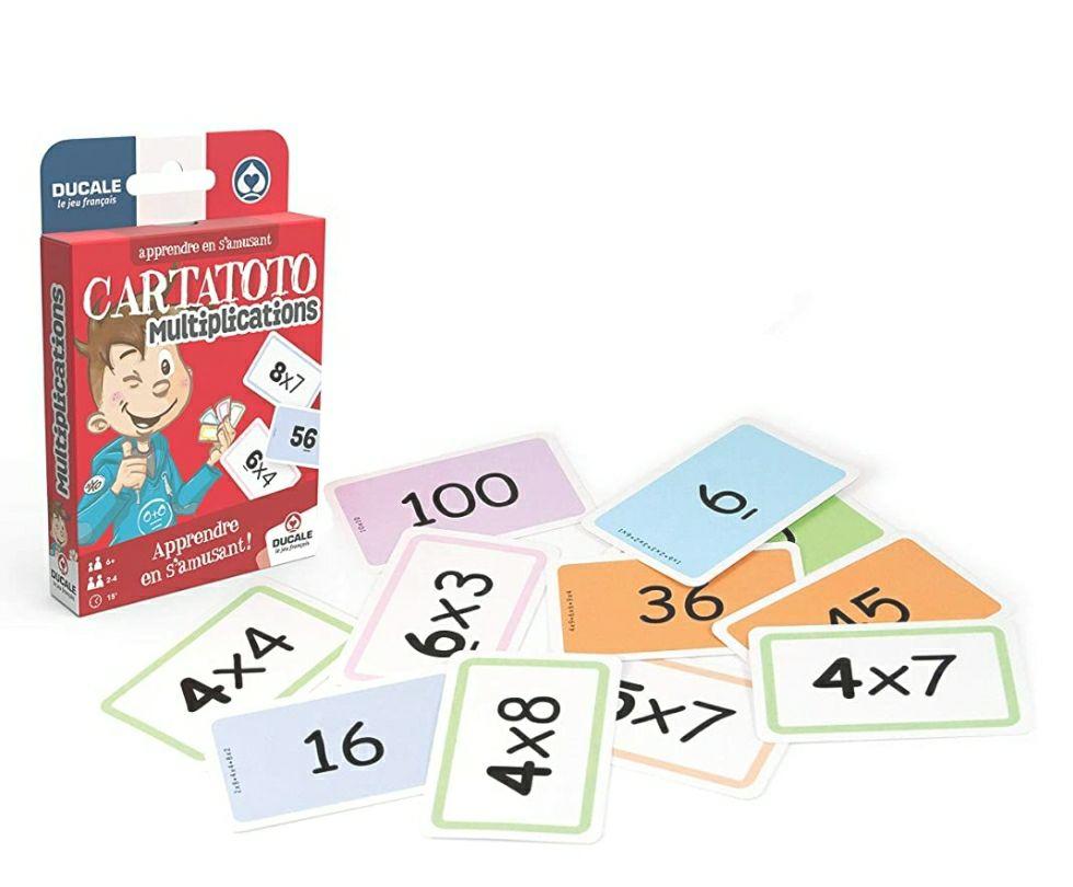 Jeu de cartes Ducale Cartatoto Multiplications