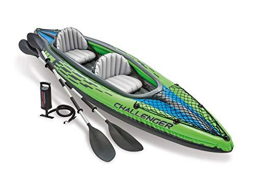 Kayak gonflable Intex Kayak Challenger K2 - 2 places, avec deux rames + gonfleur