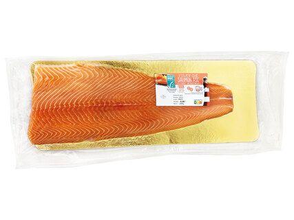 Filet de saumon ASC entier avec peau et sans arêtes - origine Norvège, le kg