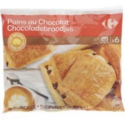2 Paquets de 6 Pains au chocolat ou Croissant pur beurre surgelé