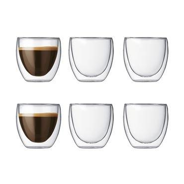 Lot de 6 verres double paroi Bodum Pavina - 0,08 L (nordicnest.fr)