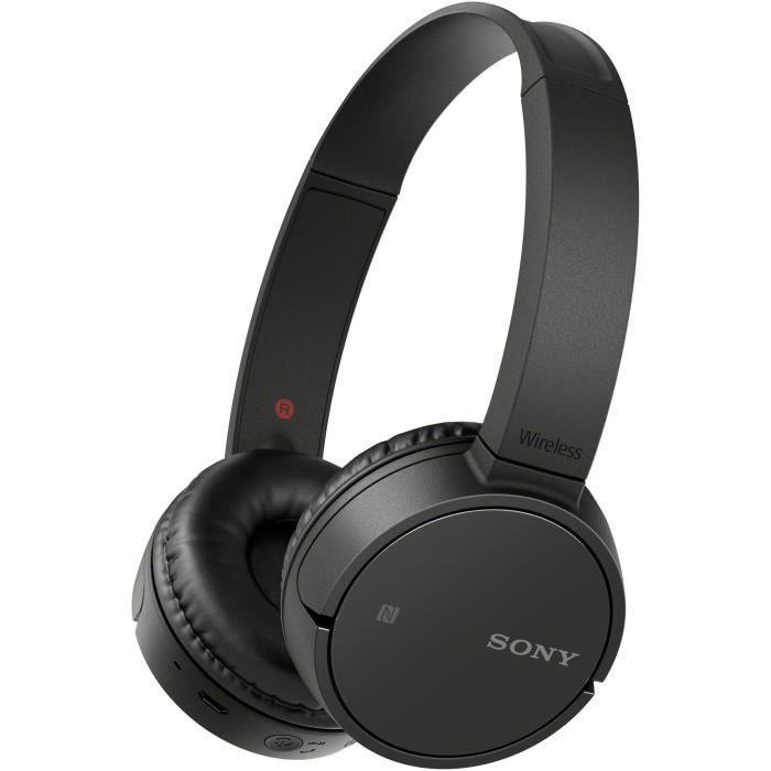 Casque Bluetooth Sony WH-CH500B - Autonomie 35h, usb-c (Coloris Bleu ou Noir)
