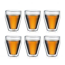 Set de 6 verres Bodum Titlis - Double paroi, empilable, 0.25 l