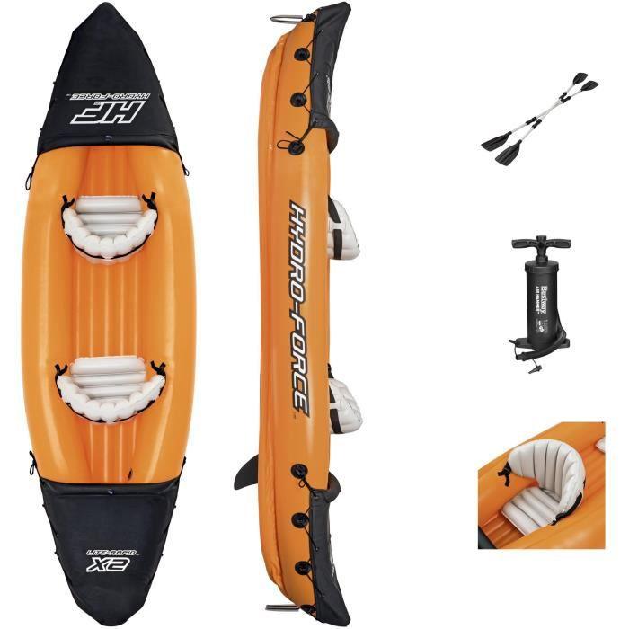 Kayak gonflable Bestway Hydro-Force - Lite-Rapid - 321 x 88 x 42 cm + 2 pagaies et une pompe