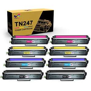 Lot de 8 toners compatible imprimante laser couleur Brother TN247 / TN243 (Vendeur tiers)