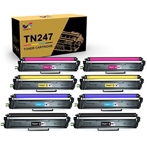 Lot de 8 toners compatible imprimante laser couleur Brother TN247 / TN243 (vendeur tiers - via coupon)