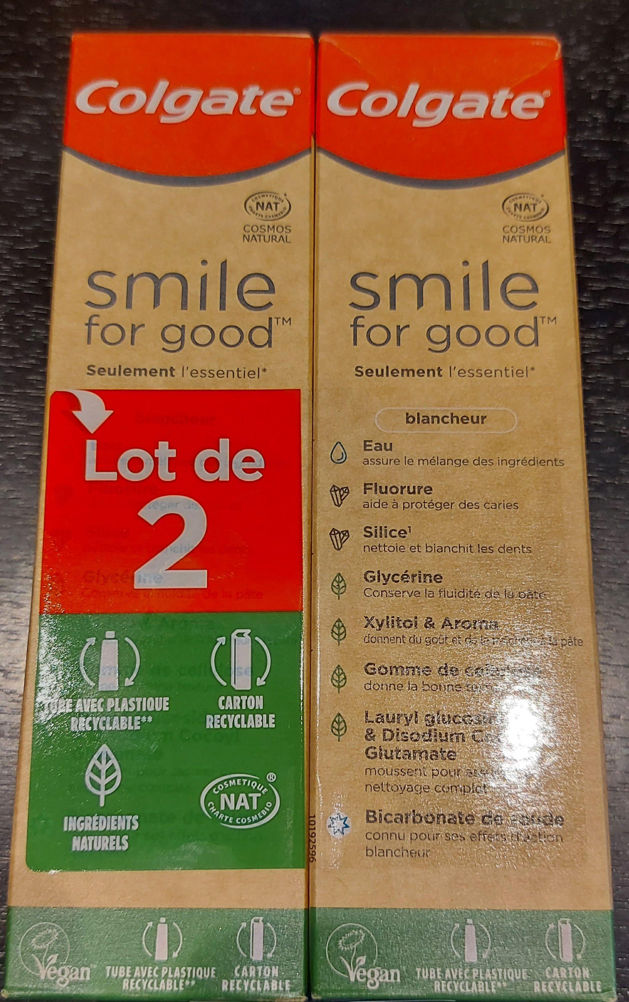 Lot de 2 dentifrices bio Colgate Smile for Good (2 x 75ml) - Cannes la Bocca (06)