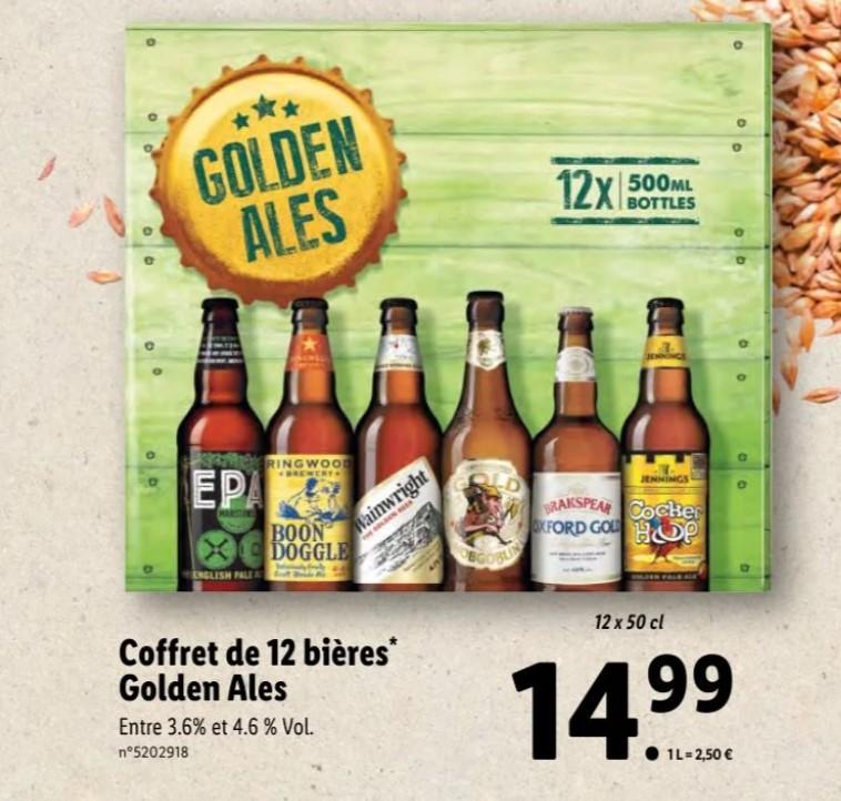 Pack de 12 bières Golden Ales - 12 x 50cl